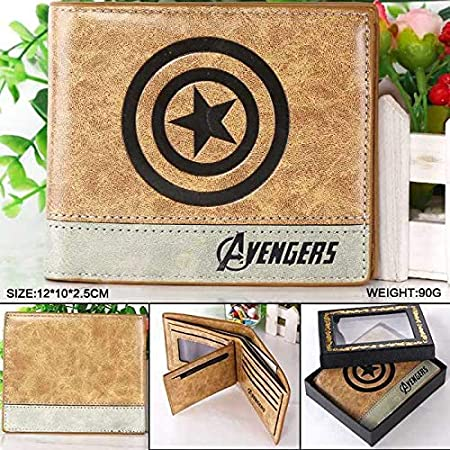 Amazon.com: Marvel Comics The Avengers Captain America Wallet Bailini Purse Women Billeteras Mujer Carteras Men Package: Kitchen & Dining