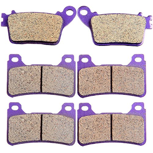 ECCPP FA436 Brake Pads Front and Rear Carbon Fiber Replacement Brake Pads Kits Fit for 2006-2011 Honda CBR1000RR,2007-2011 Honda CBR600RR ()