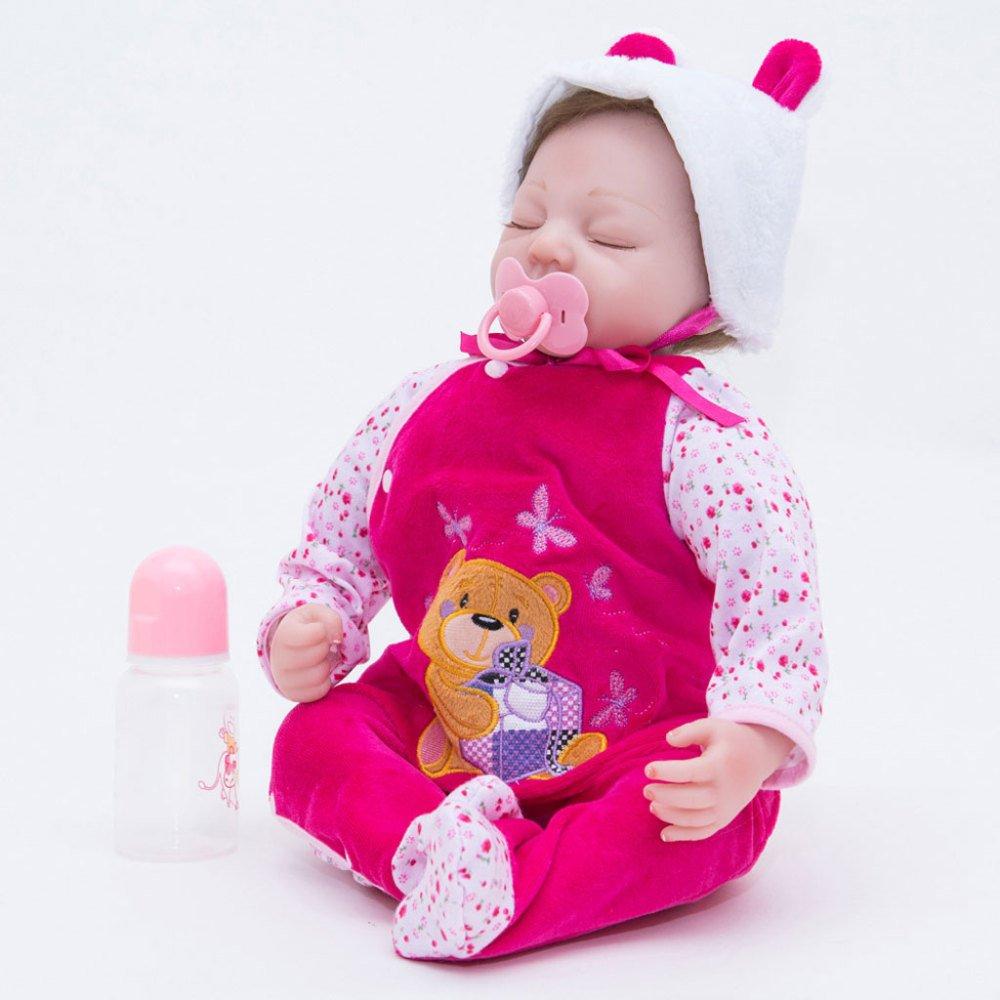 LLX Vinilo De Silicona Nicery Reborn Baby Doll Simulación Suave 22 Pulgadas 55cm Magnético Boca Realista Boy Girl Toy