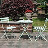 Our Grand Patio Parisian stylish outdoor bistro set includes garden table and chairs, which are outdoor powder coated. Our garden furniture sets are concise, beautiful and sturdy. These pub table and chairs also has plastic cushions on foot a...