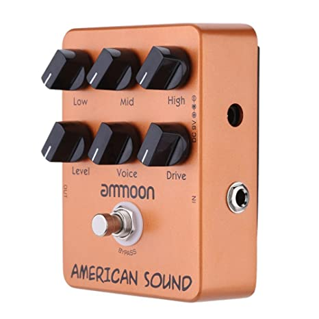 ammoon AP-13 Americano Sonido Amplificador Simulador Guitarra Efectos Pedal True Bypass