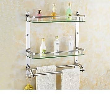 Bathroom glass shelf/Stainless steel Towel rack/Racks/Bathroom racks ...