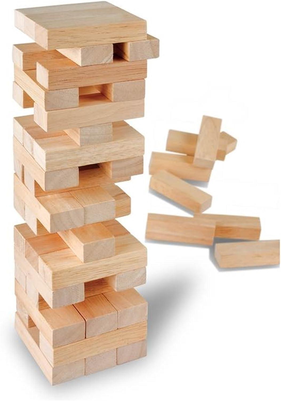 TF 51 Pieza Bloque de Madera Torre Juego Apilables Agitación Torre Juego: Amazon.es: Juguetes y juegos