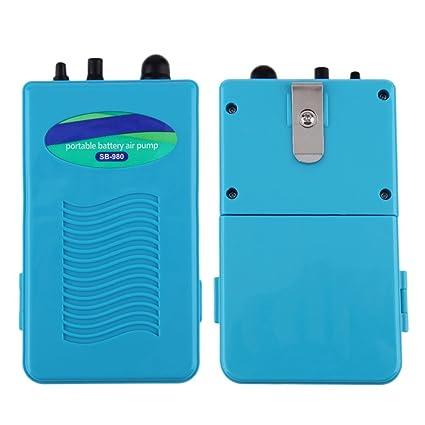 ulable resistente al agua portátil funciona con pilas peces acuario aire oxigenador Bomba