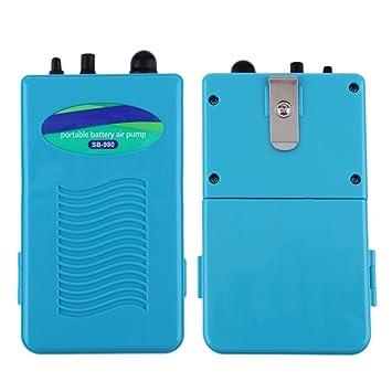 ulable resistente al agua portátil funciona con pilas peces acuario aire oxigenador Bomba: Amazon.es: Electrónica