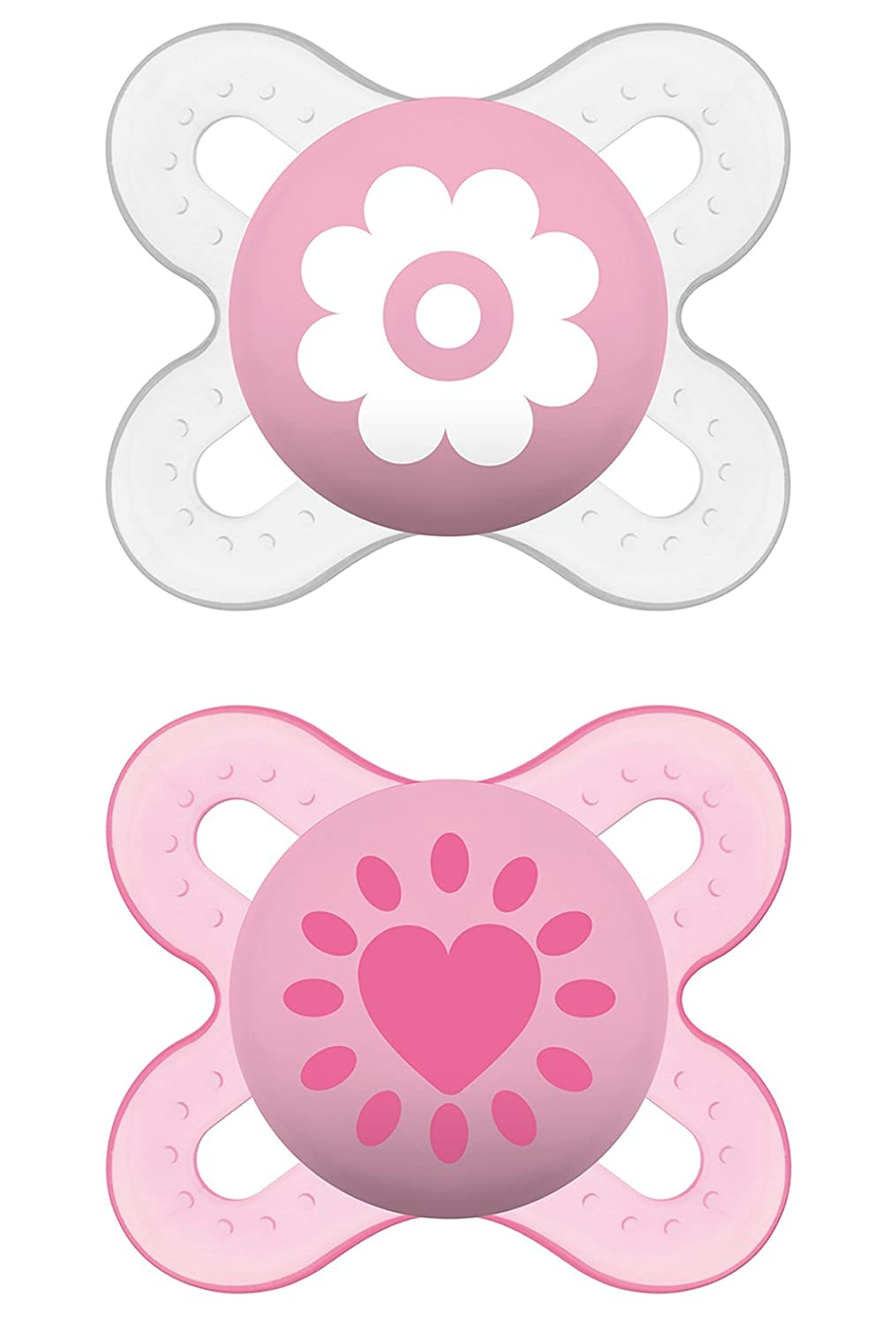 MAM Start Silicone Dummies Pack of 2 for Ages 0-2 Months MAM Babyartikel 66643822