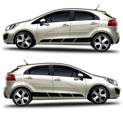 kia rio korea turbo 5 doors hatchback racng stripes sticker gdi crdi kdm ub gt motorsport