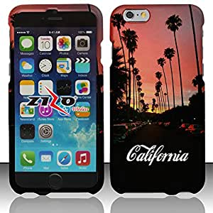 Windowcell Sales for Iphone 6 - Rubberized Design Hard Snap-on Cover - California 6 Dp