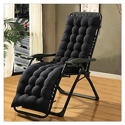 Kuhxz Patio Chaise Lounger Cushion, Lounger Rocking Sofa Zero Gravity Locking Garden Outdoor Loung Chair Tatami Mat Window Seat Mattress Chair Pad (61.0 x 18.9 x 3.1 inches, Black): Kitchen & Dining