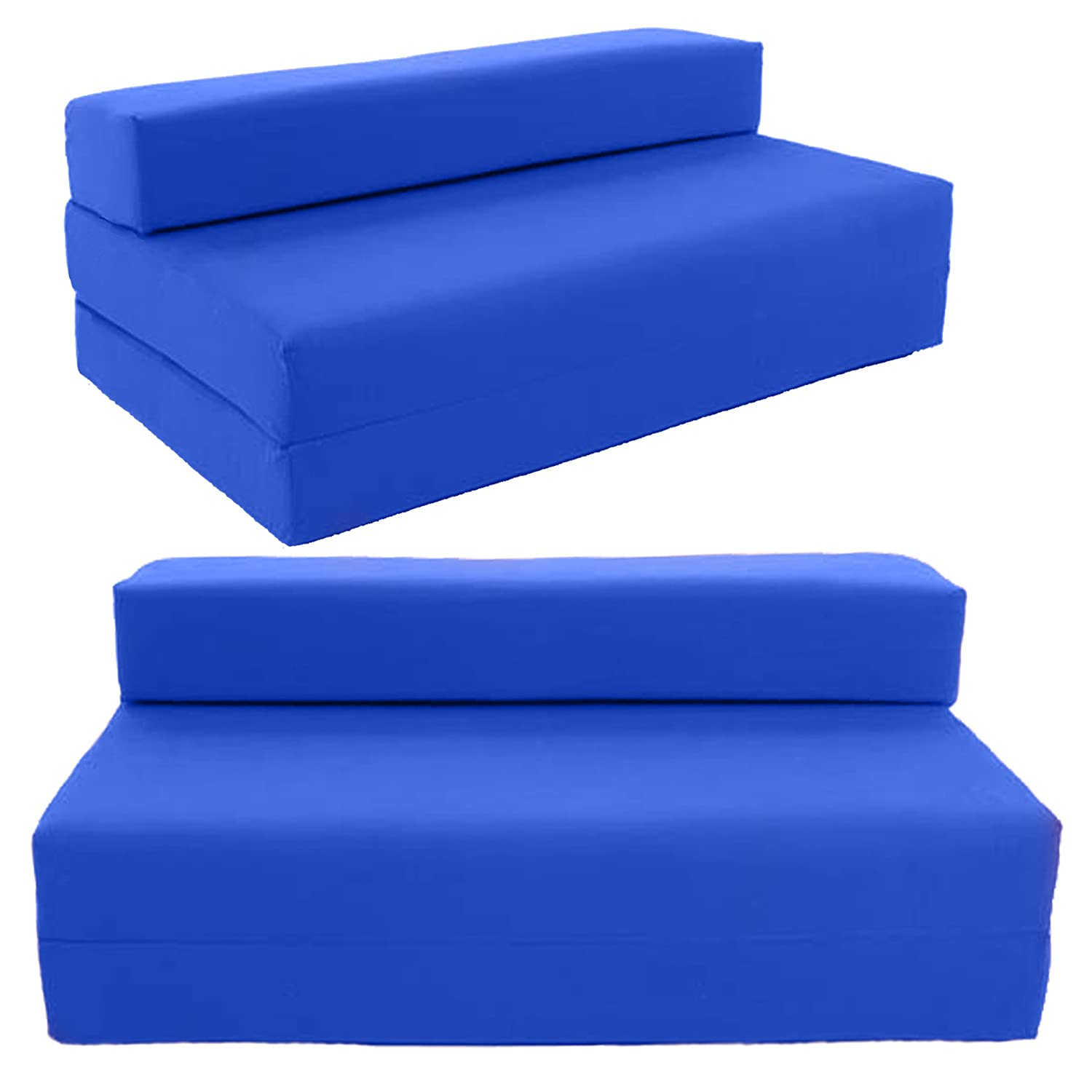 Double Sofa bed Chair bed futon Chairbed by Gilda Royal Blue