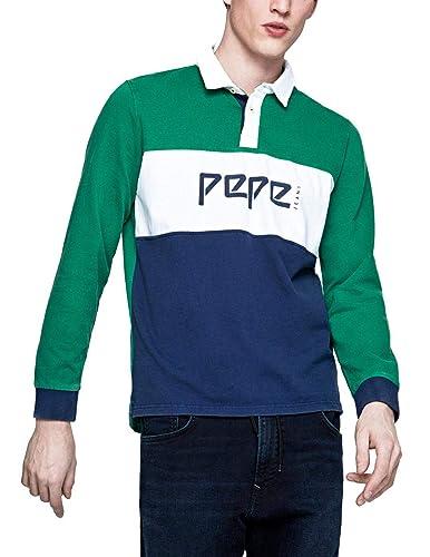 Polo Pepe Jeans Feildding Verde: Amazon.es: Zapatos y complementos