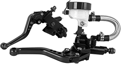 Argento Nuovo da 125CC a 400CC Leve idrauliche per moto 22mm Serbatoio freno Cilindro principale Serbatoio Set per Ducati per Kawasaki per Yamaha