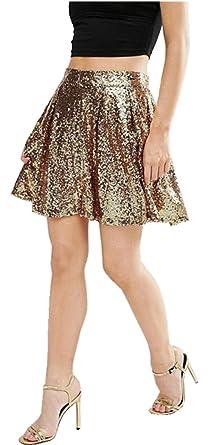 7751f3ddab0d SZIVYSHI Sexy Brillant Sparkly Briller Sequin Paillette Paillettes Pailletée  Sequined Métallique Mini Courte Une Ligne A