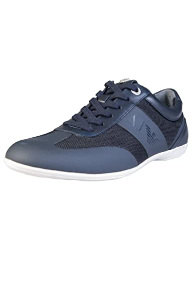 603337700e89 Armani Jeans, Baskets Mode pour Homme Noir Noir 46.5 EU - Bleu - Bleu,