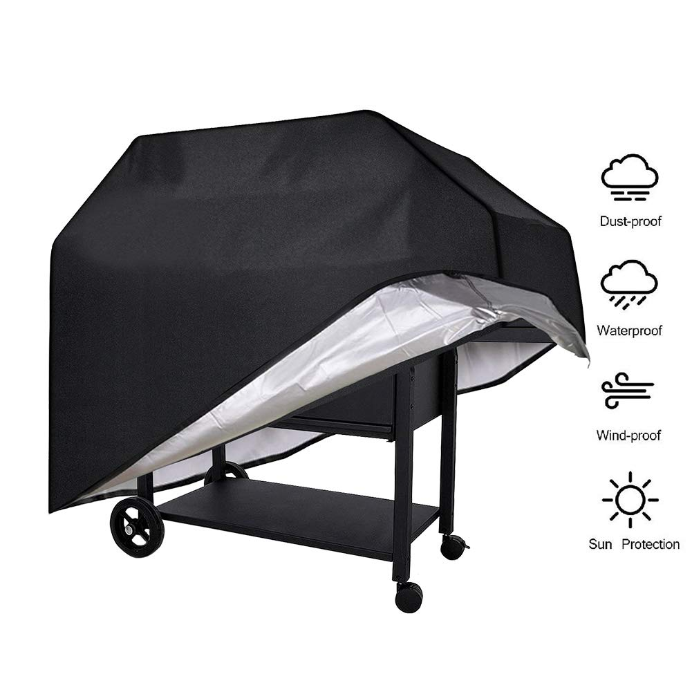 Yitour Portable Waterproof BBQ Grill Cover Heavy-Duty 600d Patio Outdoor Black Electric Metal Charcoal Barbecue Smoker Cover,Fits 24-36 Inch Round Grill,Outside Square Table,Kitchen,Resistant