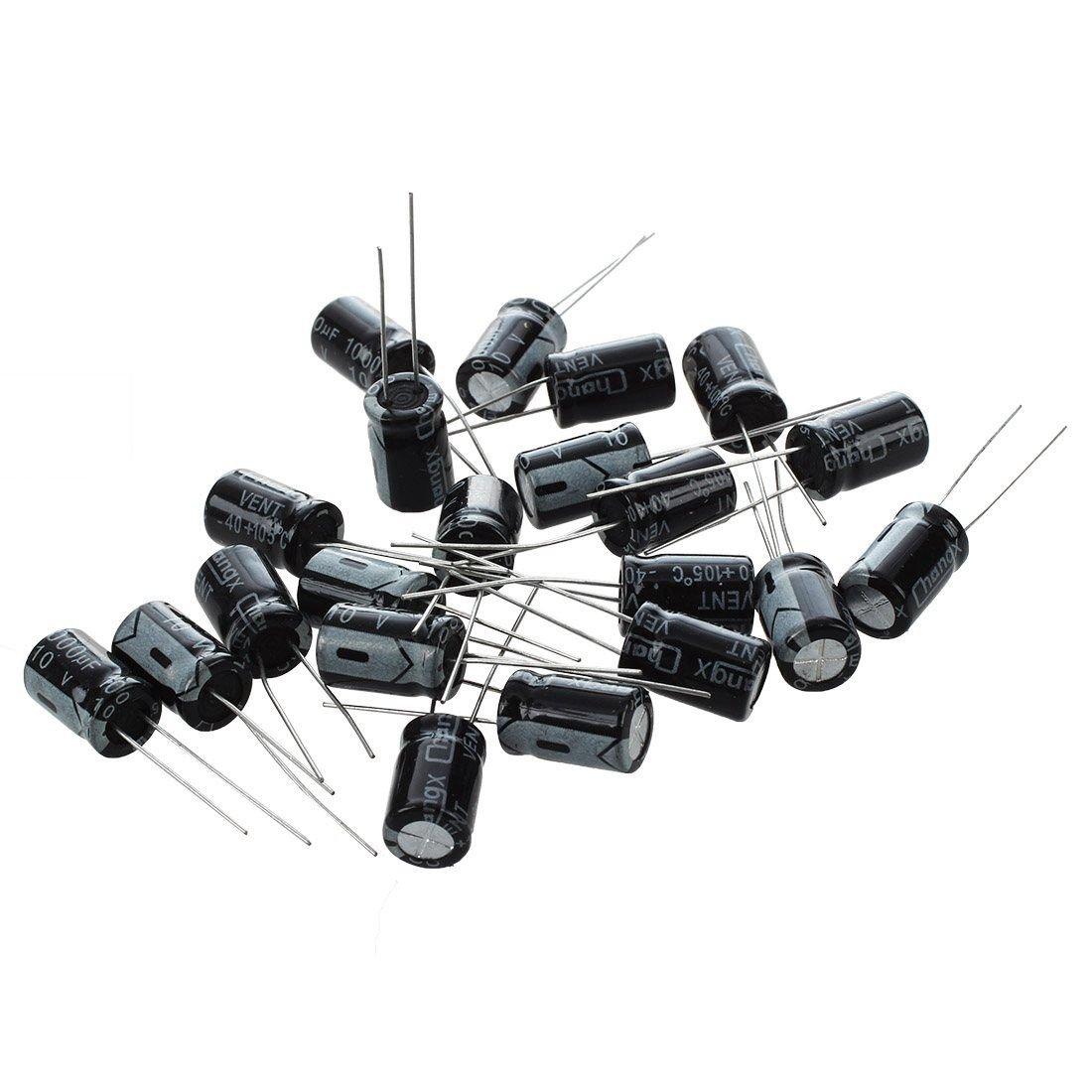 SODIAL(R) 20 x 1000uF 10V 105C Radial Electrolytic Capacitor 8x11mm 035786