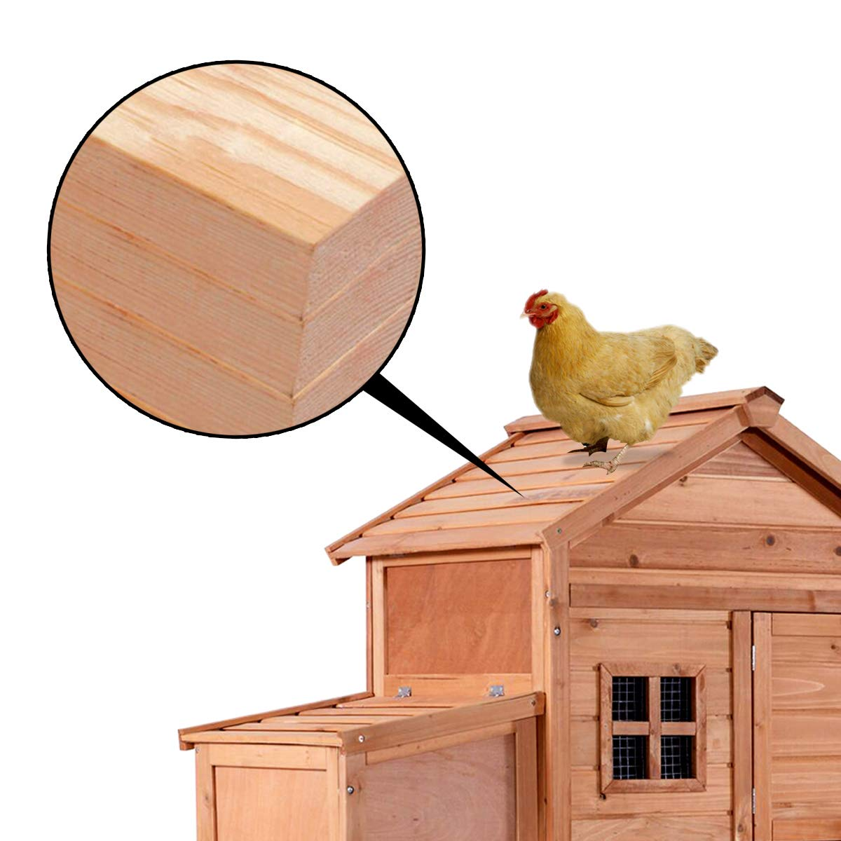 MCombo Chicken Poultry Coop Hen House Rabbit Hutch Cage-XLarge 6010-0315