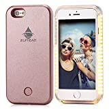 iPhone 6 6S Case, Elftear LED Selfie Case Luminous Illuminated Light Up Back Cover Protective Skin for Apple iPhone 6 iPhone 6S (Rose Gold)