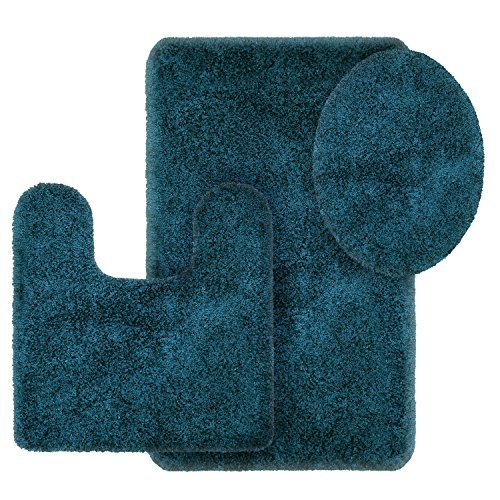 Better Homes and Gardens Thick and Plush 3-Piece Bath Rug Set, Corsair from Better Homes & Gardens