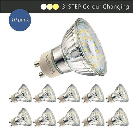 Sanlumia Bombillas LED GU10, 5W=50W Halógena, 450Lm, 120 ° ángulo de