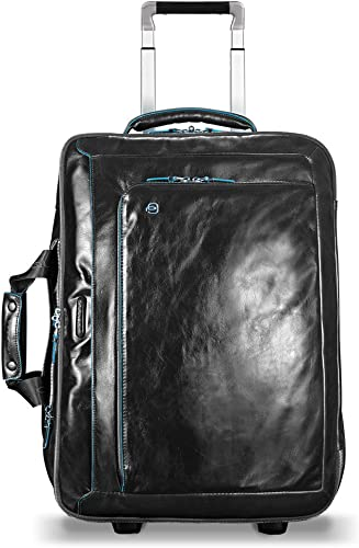 Piquadro Cabin Trolley with Double Notebook and iPad Compartment, Black