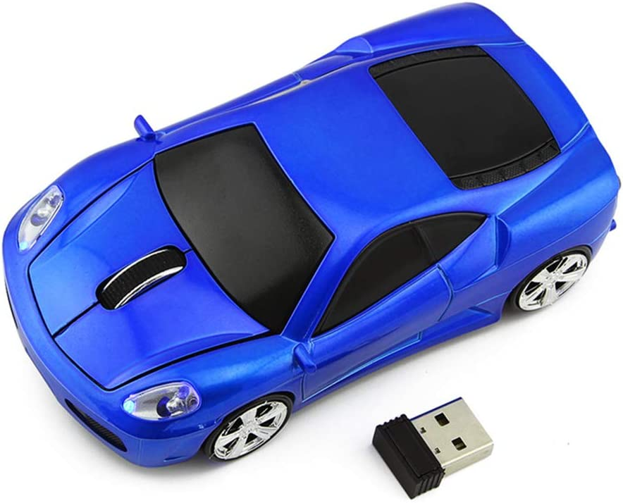 Ai5G for Ferrari Car Mouse Wireless Sports Car Mouse Computer Mice 2.4GHz 1600dpi Optical Gaming Mice (Blue)