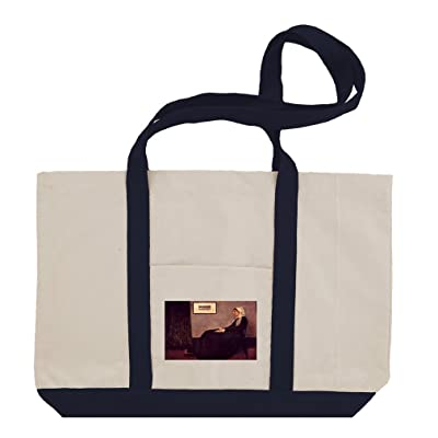 Arrangement In Black And Gray (Whistler) Cotton Canvas Boat Tote Bag Tote
