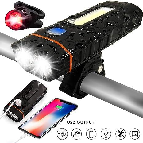 Set de iluminación LED para bicicleta, tooda LED Luz de Bicicleta ...