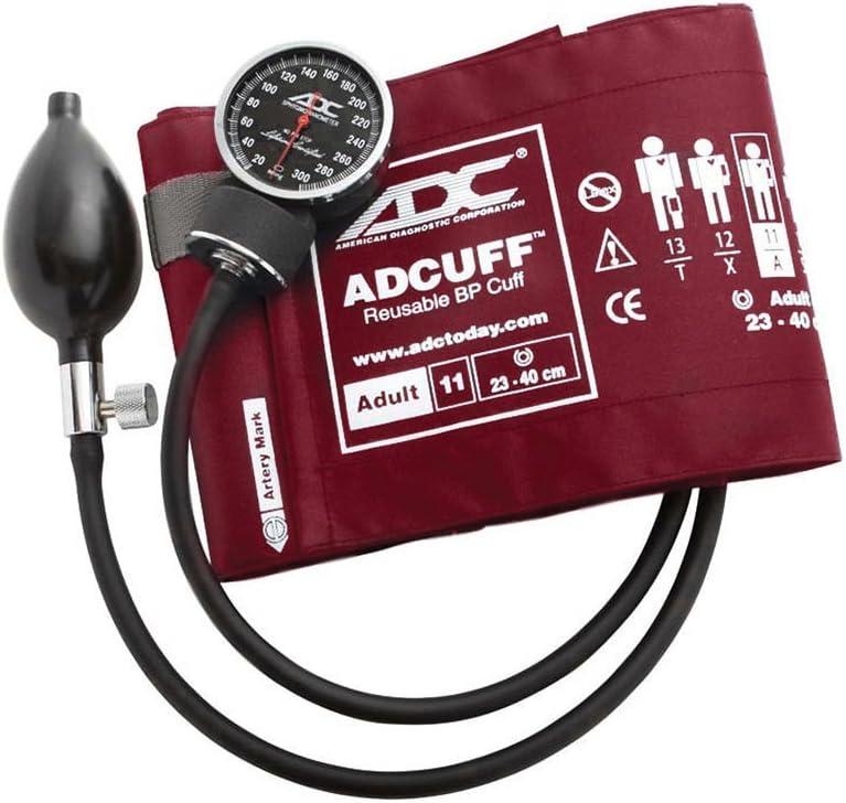 American Diagnostic Corporation Diagnostix 720 Pocket Aneroid Sphygmomanometer X-Large Burgundy