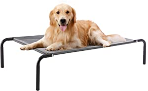 WESTERN HOME WH Elevated Dog Bed cot, Raised Portable Pet Beds for Extra Large Medium Small Dogs with Breathable Mesh, Indoor and Outdoor, Stable Frame & Durable Supportive Teslin Recyclable Mesh