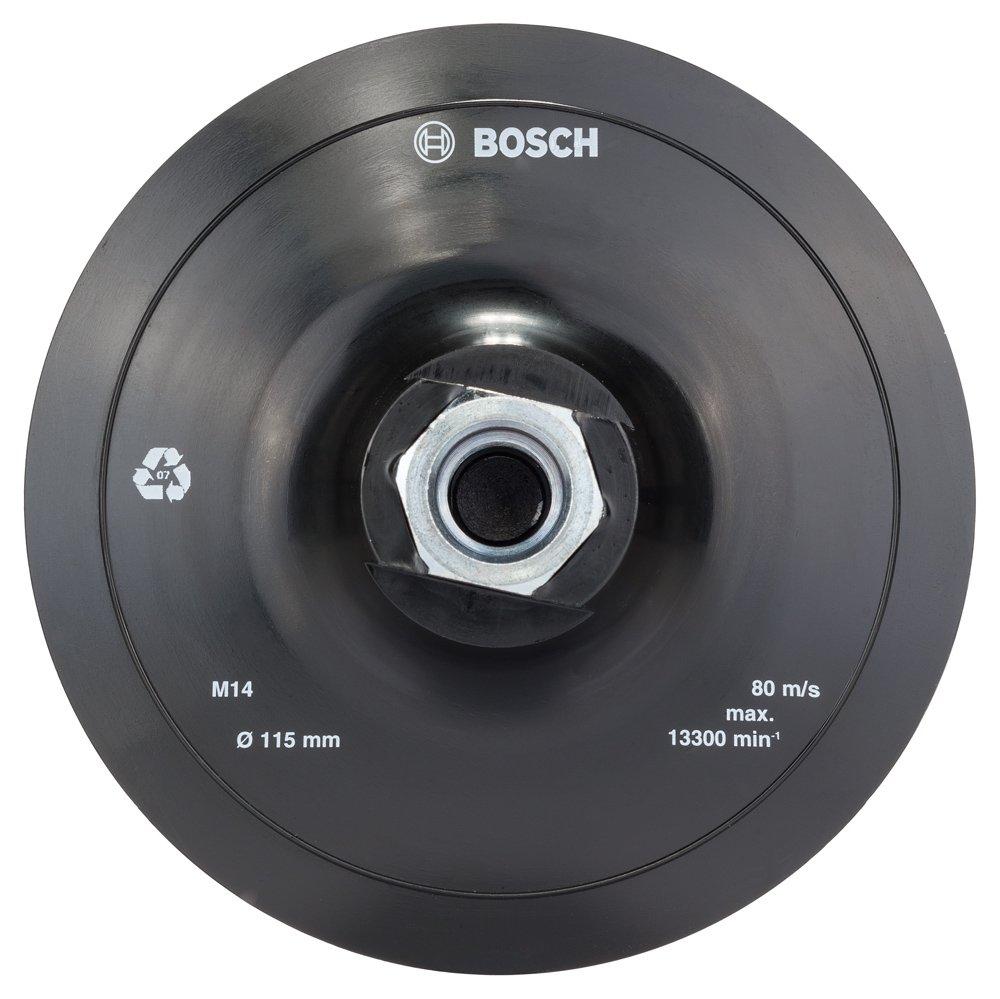 Bosch 2608601077 Velcro-Type Fastening Plate 125 mm, 12,500 RPM, Black