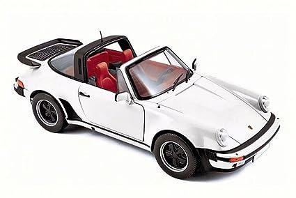1987 Porsche 911 Turbo Targa, White - Norev 187660 - 1/18 Scale Diecast