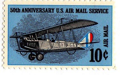 U.s. Postage AIR Mail 10c #C74-1968 ()