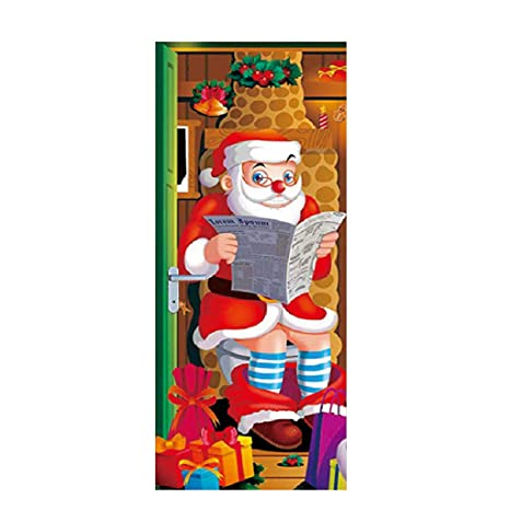 TianranRT Adhesivo de Puerta 3D,Las Nuevas Ideas de Navidad ...