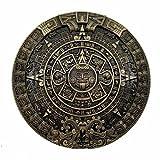 YONE Mayan Aztec Calendar Belt Buckle Bronze, 1.5 inch