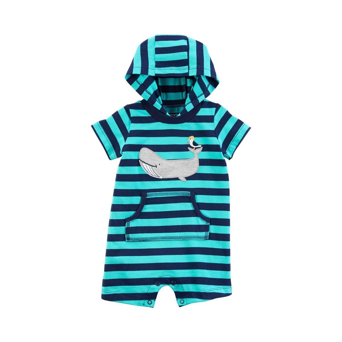 Carter's SHIRT ベビーボーイズ B07CQ48JKK Turquoise/Whale 24 Months 24 Months|Turquoise/Whale