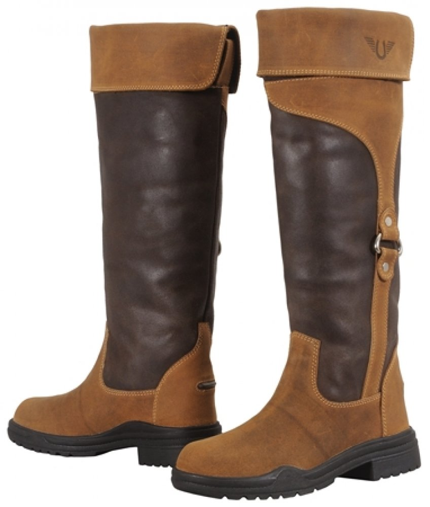 TuffRider RADNOR Ladies ' Water Proof Tall Boot Chocolate Fawn