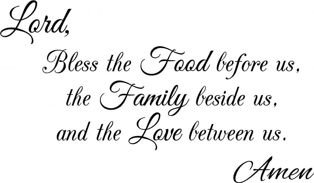 Lord Bless Vinyl Wall Decal - Large, Black