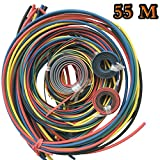 55M Heat Shrink Tubing Tube Sleeving Wrap Cable Wire 5 Colors 11 Sizes ZhuTook 2:1 Assorted Tubing Wrap Sleeve Set (55M-New)