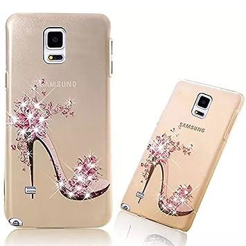 Vandot Funda PC Dura Bumper Case Cover Carcasa para Samsung Galaxy Note 4 3D Brillante Bling Cubierta Trasera Mate de Lujo Tapa Caja Teléfono Móvil ...