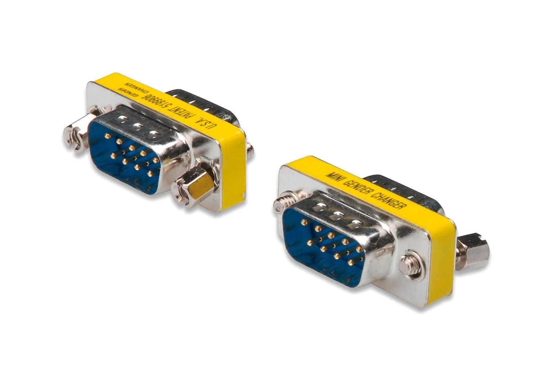9 Pines Hembra DIGITUS D-Sub 9 Cambiador de g/énero Carcasa met/álica RS-232 Enchufe a Enchufe RS-485 TTL Adaptador