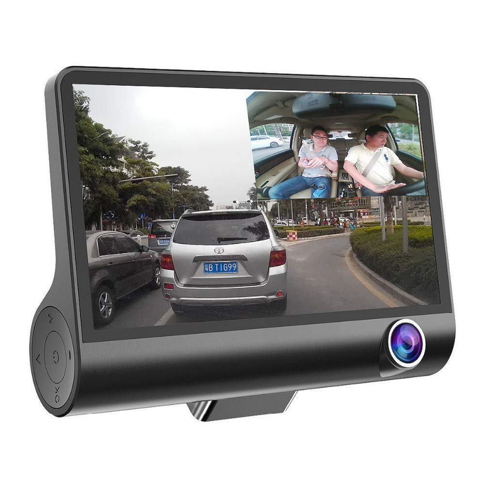 Amazon.com: South Weekend 1080P 4 in Dual Lens HD Car DVR Rearview Video Dash Cam Recorder Camera G-Sensor, 170° Wide Angle Lens Driving DVR,Display Screen ...