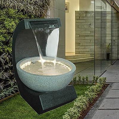 Zen Light ridodo Grande Fuente, Resina, Gris, 42 x 49 x 60 cm: Amazon.es: Hogar