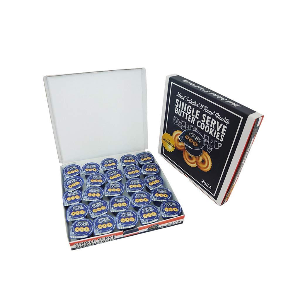 DANESITA Butter Cookies Single Serve, Pack of 25 (3 Cookies per Pack), 15.9oz