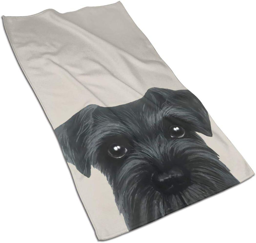 antcreptson Schnauzer Original Painting Dog Puppy Hand Towel Ultra Soft Highly Absorbent Guest Towel Portable Kitchen Tea Towels Washcloths Bathroom Decor Housewarming Gifts 16