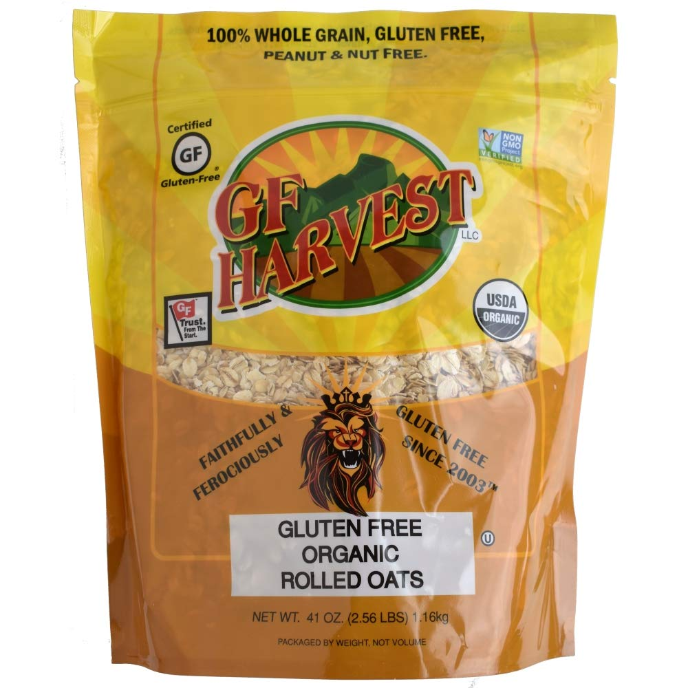 GF Harvest Gluten Free Organic Rolled Oats, 41 oz. Bag, 2 Count (Packaging May Vary) by GF Harvest (Image #2)