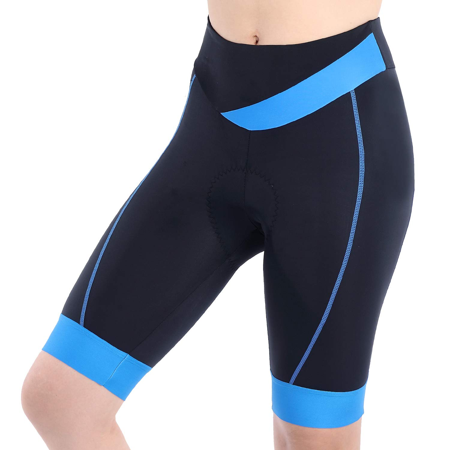 beroy Bike Shorts with 3D Gel Padded,Womens Gel Cycling Shorts(S,Blue)