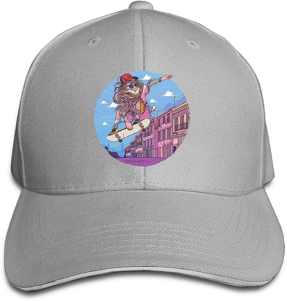 Unisex Sandwich Peaked Cap Man Street Skateboard Art Adjustable Cotton Baseball Caps