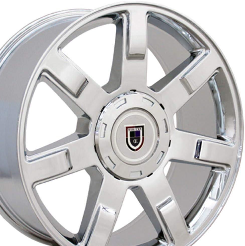 Partsynergy Replacement For 22 Rim Fits 1999-2018 Cadillac Escalade CA80 Chrome 22x9 Aluminum Wheel
