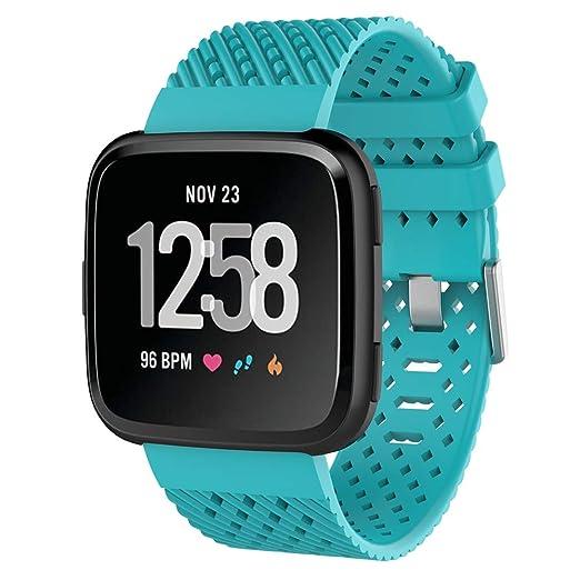 Pulseras de Repuesto Correa, Banda Pulsera Strap para Fitbit Versa Wristband Sports Ajustable Reemplazo de Bandas para Fitbit Versa Correa Fitness ...